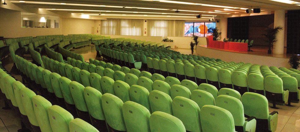 L'Auditorium ha una capienza di 800 posti